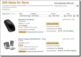 Gift Contributions - www.DaveTavres.com
