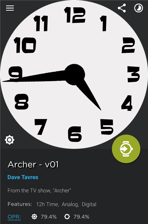 Archer watch face - v01 | DaveTavres.com