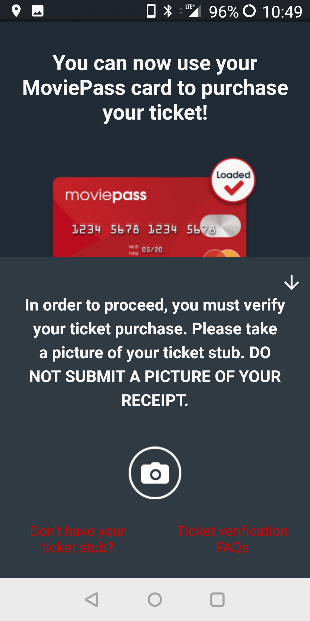 MoviePass Ticket Verification | DaveTavres.com