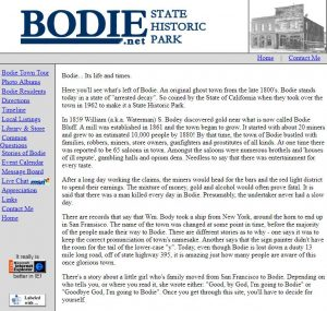 Bodie.net from 1996   Tavres.com
