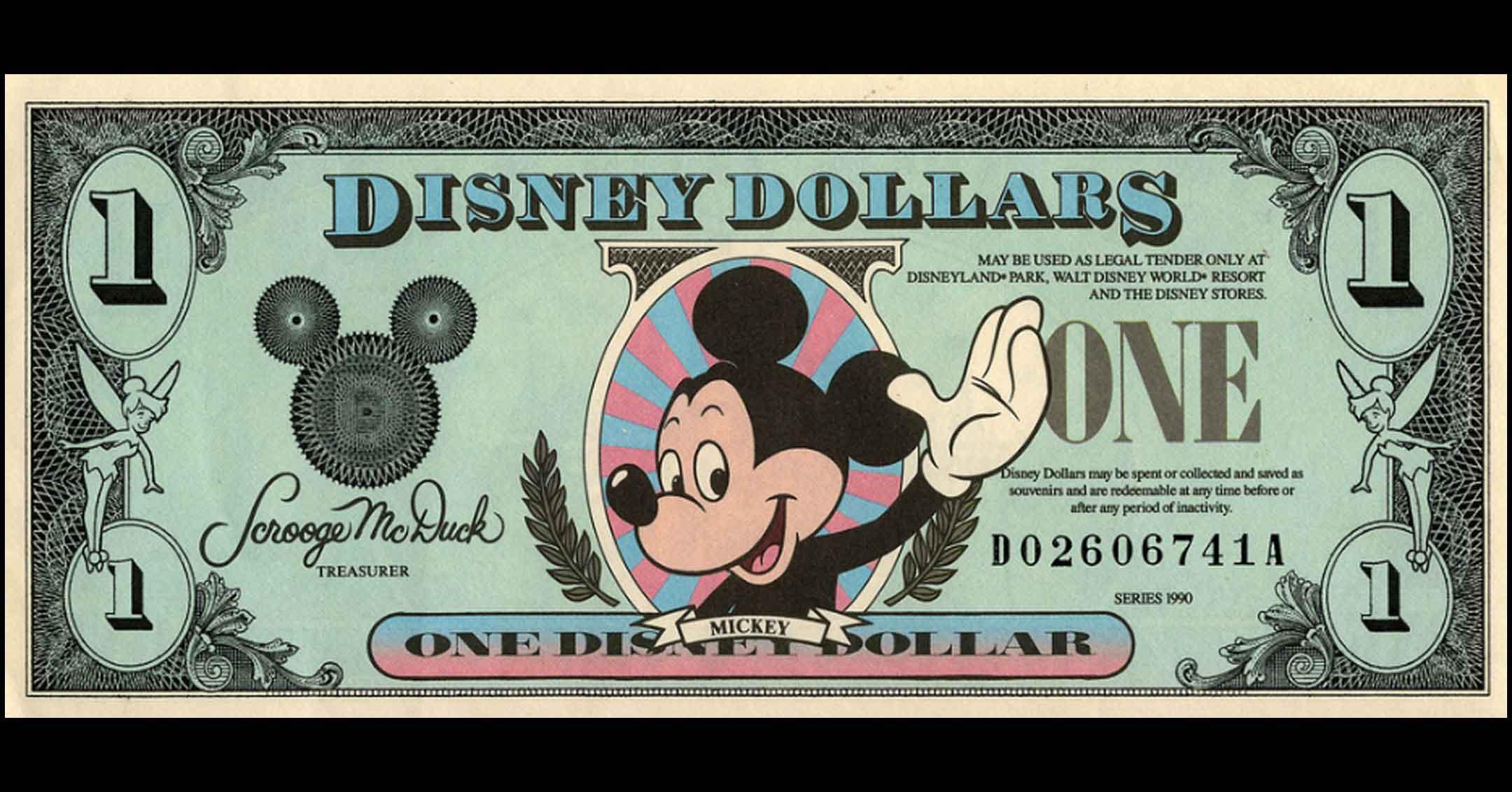 Disney Dollars   DaveTavres.com