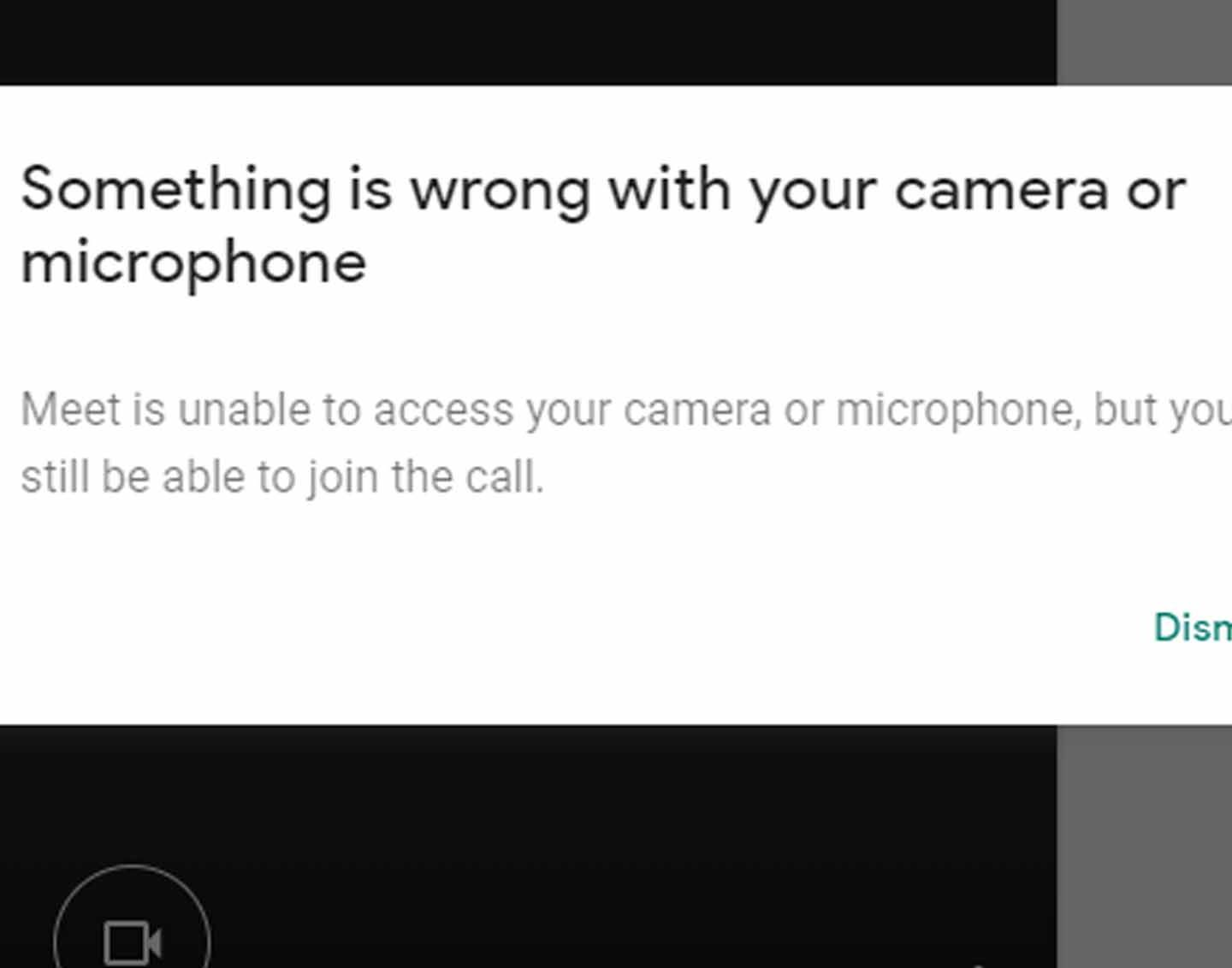 Google Meet Blocked Microphone