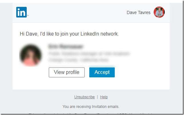 LinkedIn Invites... | DaveTavres.com