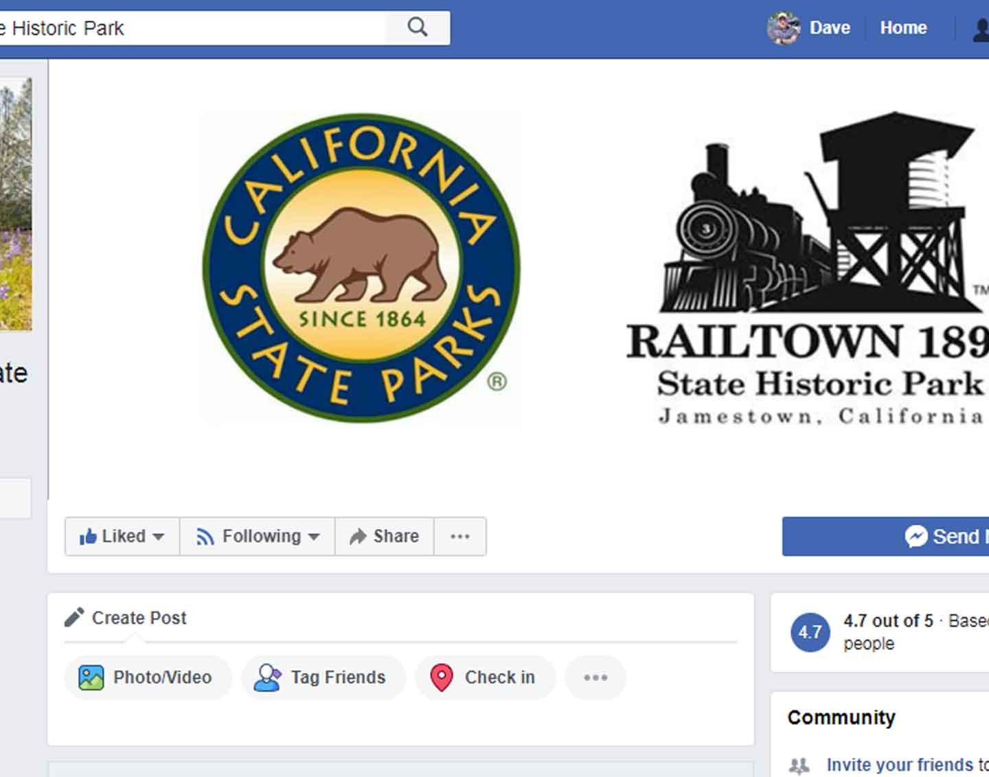 Help fix the Facebook page for Railtown 1897 State Historic Park!