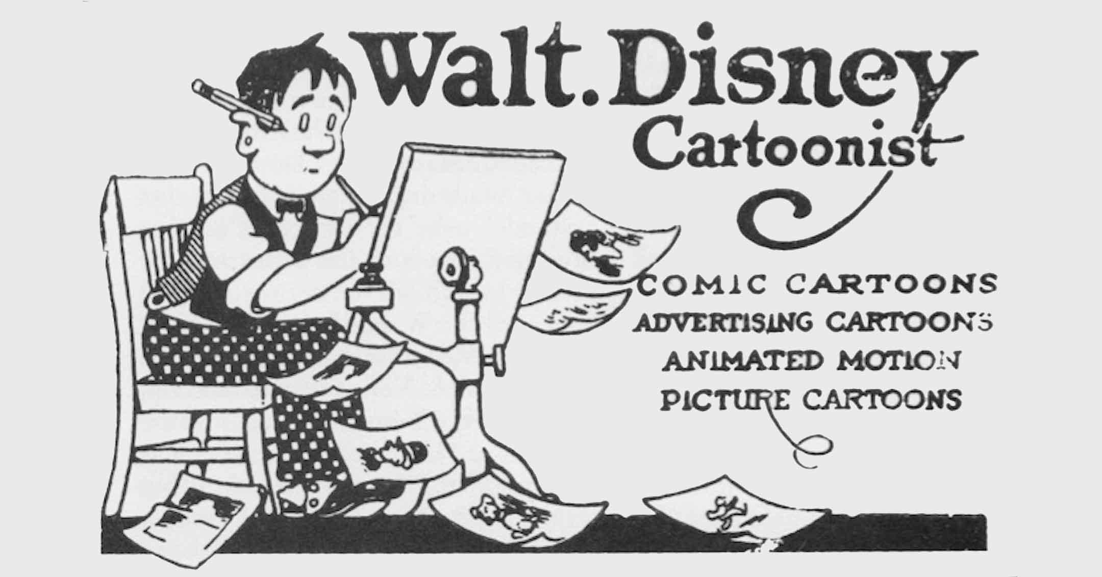 Walt Disney - Cartoonist   DaveTavres.com